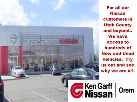 nissan orem service ken garff nissan of orem orem ut 84058 car dealership