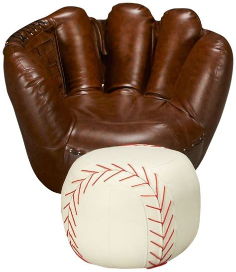 baseball chair and ottoman baseball glove chair ottoman jordan s furniture 299 99