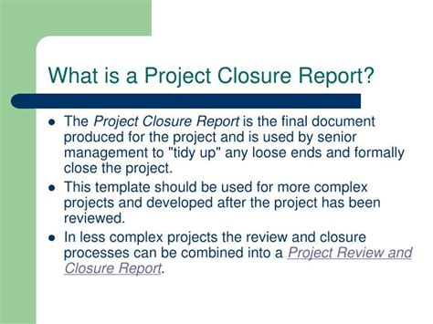 Project Closure Report Template 5 Project Report Sle Cook Resume Sle Project Report Project Closure Report Template Ppt