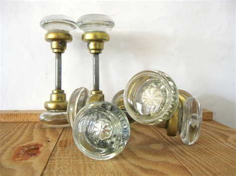 Glass Door Knobs Vintage Antique Glass Door Knobs Glass Door Knobs With Inset