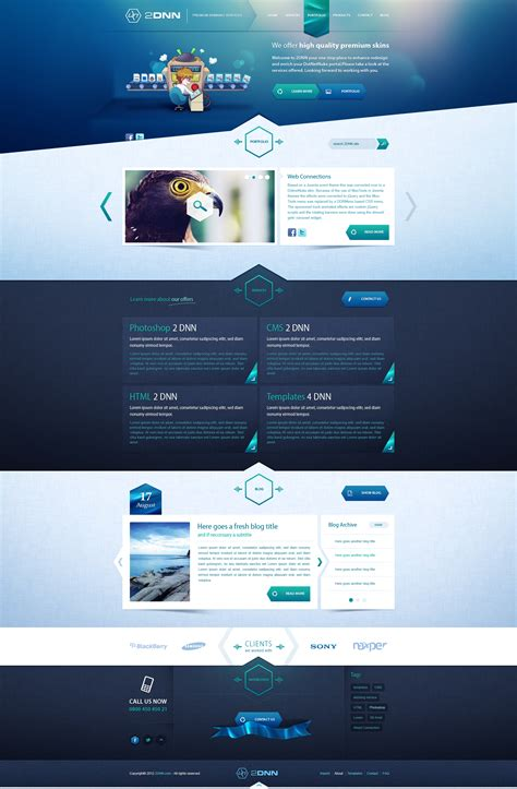design layout web online 2dnn portfolio sold by andasolo on deviantart
