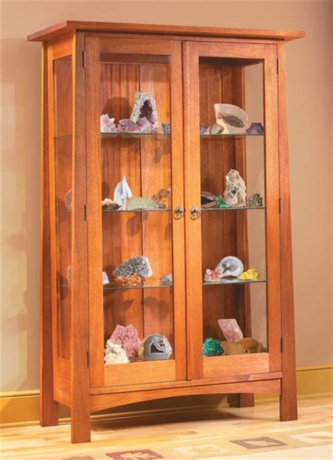 craftsman style display cabinet popular woodworking magazine