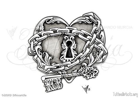 heart lock and key tattoo lock and key artists org