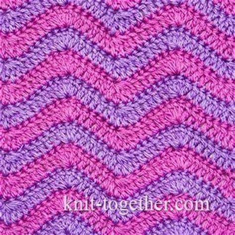 crochet wave ripple pattern stitch knitting bee knit together crochet ripple stitch pattern 2 with