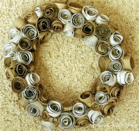 toilet paper roll wreath craft proverbs 31 toilet paper roll wreath