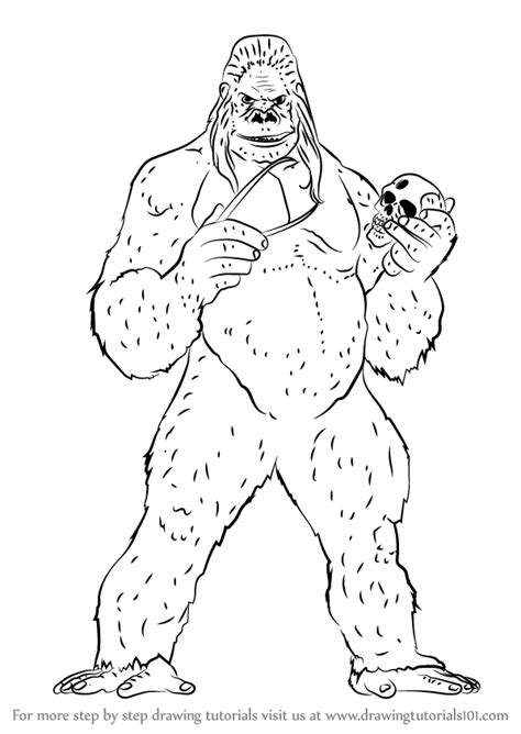 gorilla grodd coloring page gorilla grodd coloring pages coloring pages