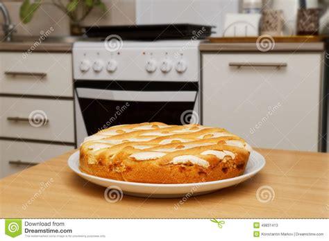 pie on a kitchen stock photo image 49831413