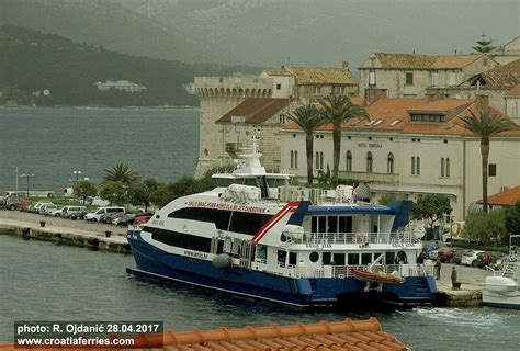 catamaran ferry split korcula ferry catamaran krilo star this morning in korcula