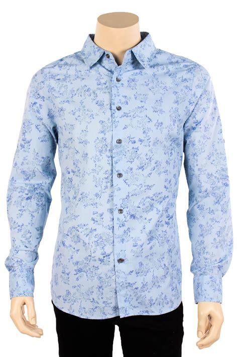 floral pattern shirt mens mens floral print long sleeve casual dress shirt button