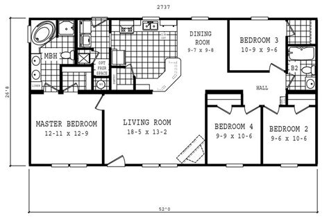 18 x 80 mobile home floor plans 32 x 80 mobile home floor plans mobile homes ideas