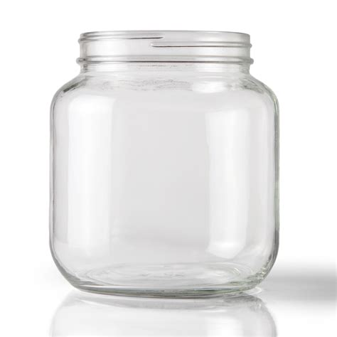 glass jars 64 oz clear glass jar 110 400 neck finish 6 per packaging options direct