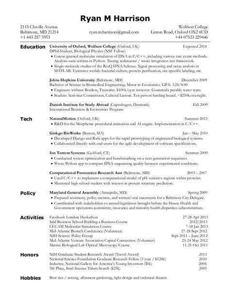 resume format resume format latex