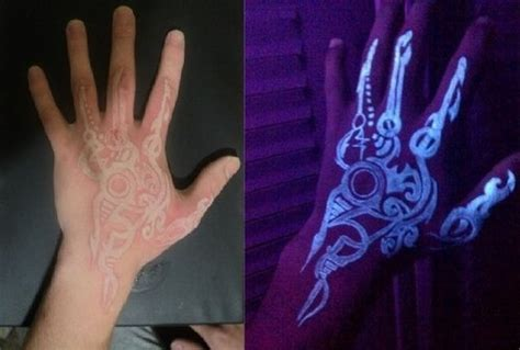 invisible tattoos uv tattoos or blacklight tattoos are tattoos made with a