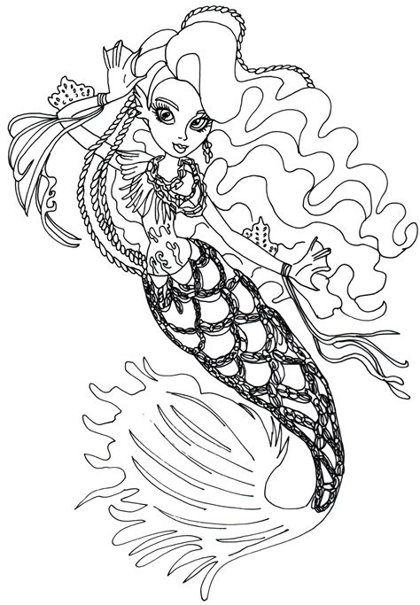 Free Printable Monster High Coloring Pages Sirena Von Boo Coloring Sheets For High Printable
