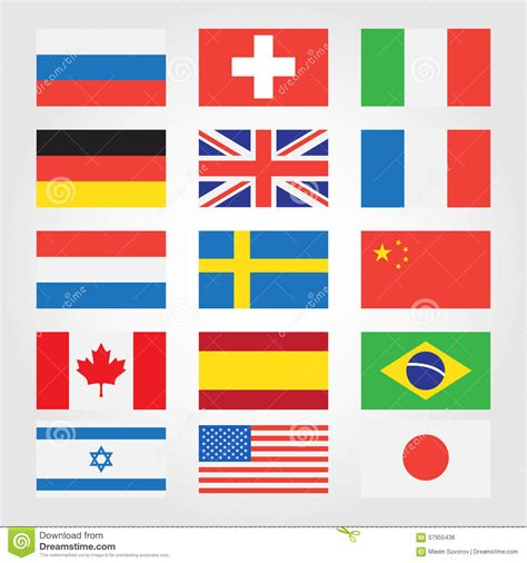 printable pictures of flags from around the world flags of countries around the world stock vector
