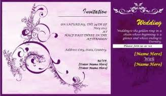 wedding invitations designs templates free create wedding cards wblqual
