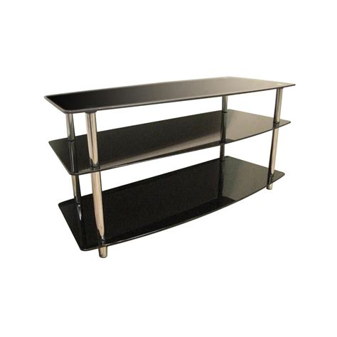 home source black glass tv stand by oj commerce dr 8145 163 99
