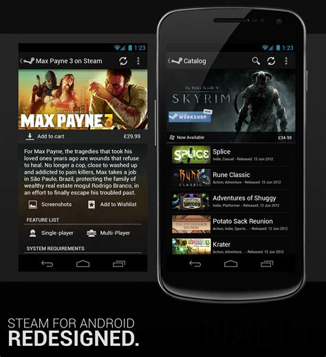 steam android how steam for android should looked android