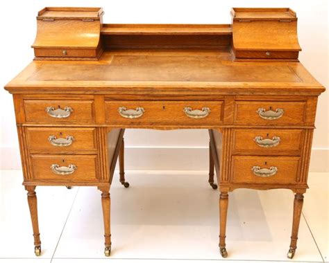 carlton house writing desk an edwardian oak carlton house style writing desk having th