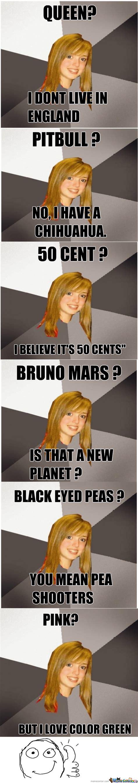 Musically Oblivious 8th Grader Meme - musically oblivious 8th grader strikes again by