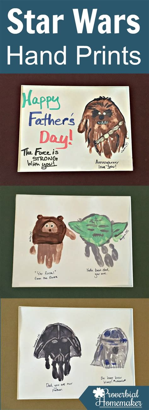 star wars hand prints for father s day proverbial homemaker