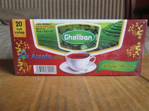 Promo Teh Celup Pegagan Gholiban teh celup daun binahong harga murah hanya di alzafa alzafa store