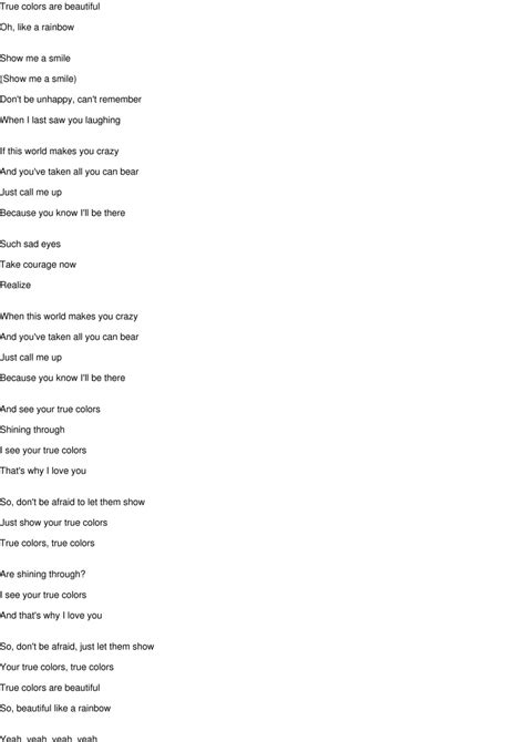 phil collins true colors true colours lyrics phil collins