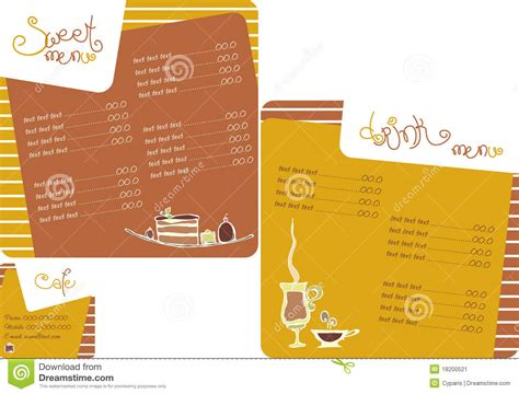 template menu for coffee shop stock vector image 18200521