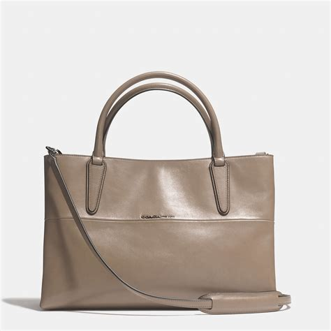 coach soft borough bag in nappa leather in brown lyst