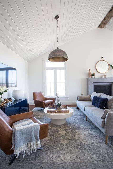 copy cat chic room redo sleek navy  gray living room