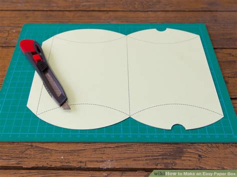 how to make a paper box template 4 ways to make an easy paper box wikihow