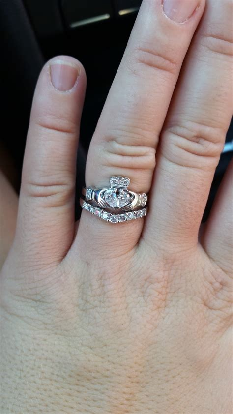 engagement ring wedding band combo cool costume jewelry