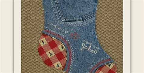 pattern for blue jean stocking repurpose old jeans into fun christmas stockings