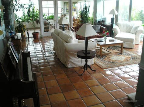 terracotta living room mexican terracotta floors traditional living room montreal by ceramiques hugo sanchez inc