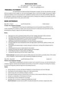 Product Development Specialist Sle Resume by Srinivasarao Galla Product Development Manager Cv