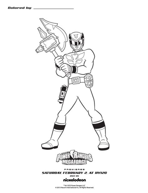 power rangers halloween coloring pages get this power rangers megaforce coloring pages 60317