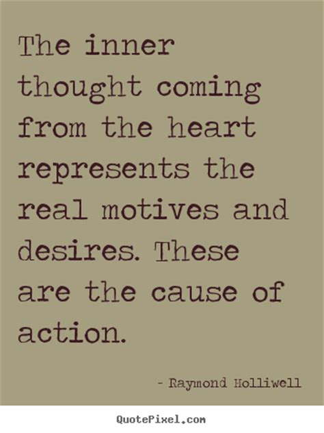 The inner thought coming from the heart represents the ...
