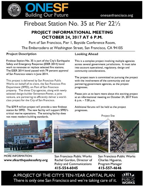 fireboat station fireboat station no 35 informational meeting port of