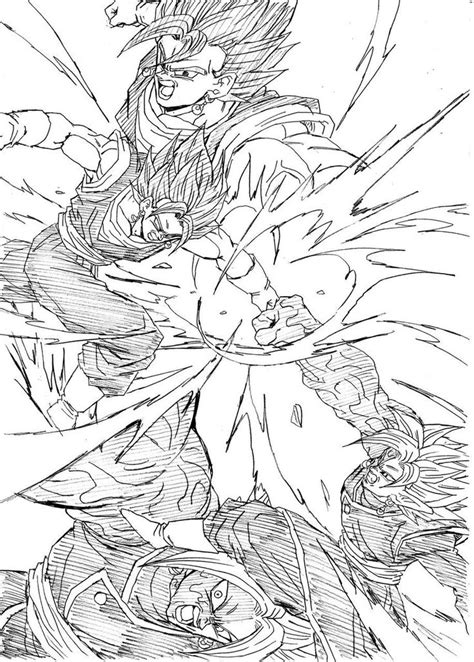 supercar drawing quot brawl vegito vs zamasu quot drawn by young jijii found by