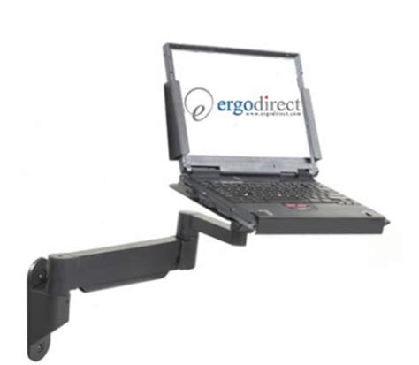 how to secure a laptop to a desk secure height adjustable laptop arm wall or desk mount