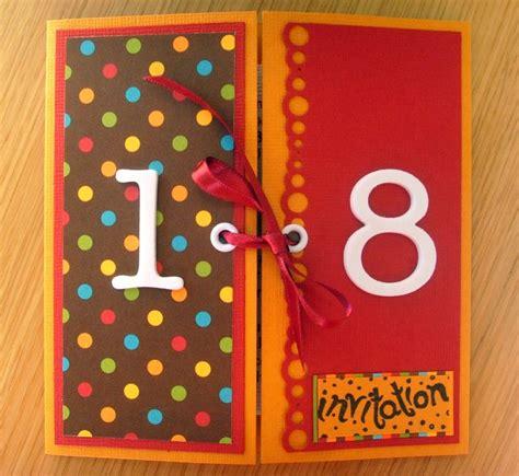 scrapbooking carte anniversaire 18 ans id 233 es cartes