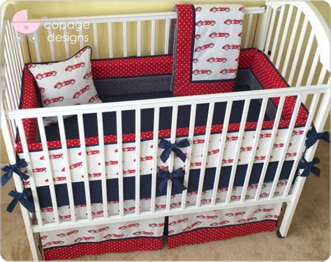 Car Crib Bedding Set Organic Vintage Race Cars Baby Crib Bedding By Copagedesigns