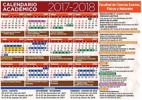 calendario escolar argentina 2017 2018 el calendario acad 233 mico 2017 2018 est 225 disponible