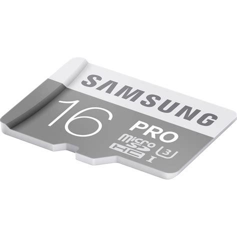 Samsung Micro Sd Card 16gb samsung 16gb pro uhs i microsdhc memory card mb mg16ea am b h