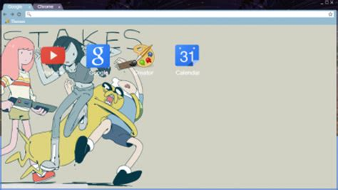 themes google chrome adventure time adventure time chrome themes themebeta