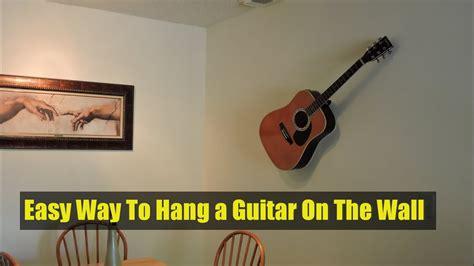 is it ok to hang guitars on wall ingenious hanging guitars on wall guitar hanger 4 steps