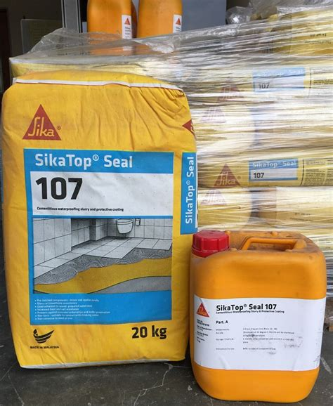 Sika Top 107 Seal Set 25 Kg 20kg Cairan 5kg johor sikatop seal 107 waterproof from yue whatt trading sdn bhd