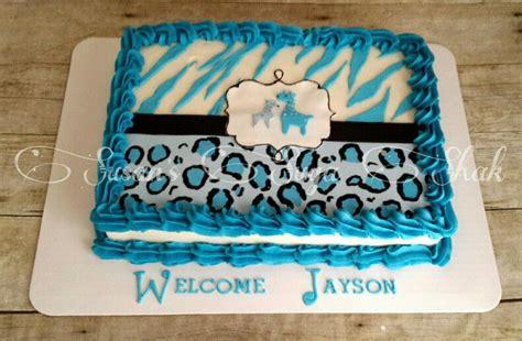 Blue Safari Baby Shower Ideas by Blue Safari Baby Shower Cake Baby Shower Idea