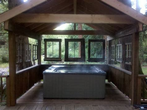 hot tub surround  purposing   windows