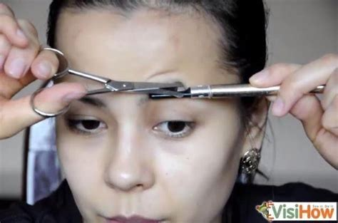 how to trim you eyebrows with clippers wiki with pictures trim your eyebrows with scissors visihow